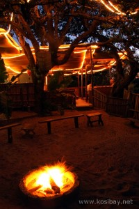 The communal boma area at Kosi bay Amangwane