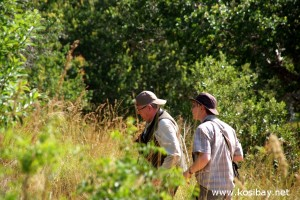 jason and adam hunt for birds at Kosi Bay