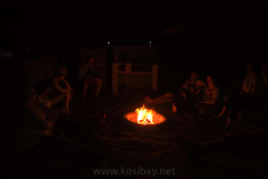 accommodation in kosi bay with open fire